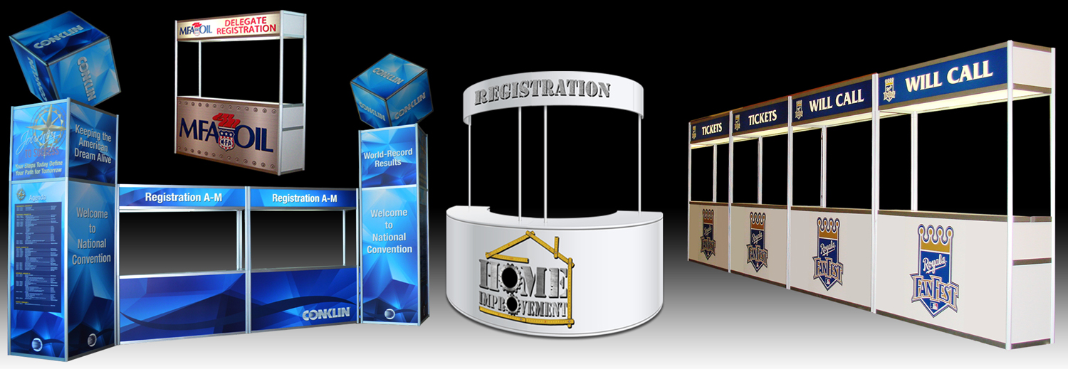 Registration Counters Liberty Exposition Services