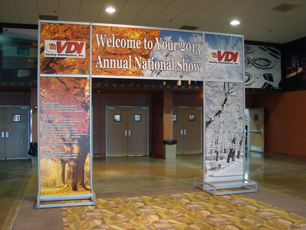 Custom Expo Stands : Entrance units liberty exposition services